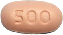 CAPECITABINE 500MG TABLET FRONT