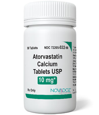 Atorvastatin Calcium 10mg 90 Tablet Bottle