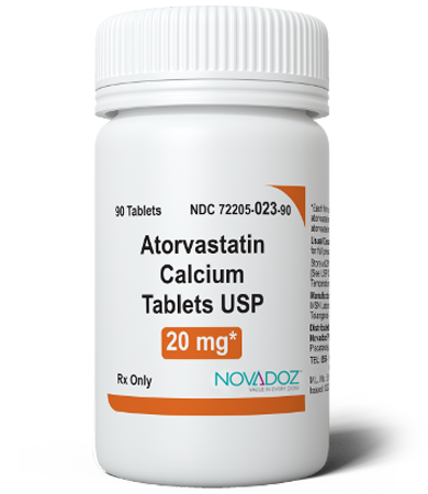 Atorvastatin Calcium 20mg 90 Tablet Bottle