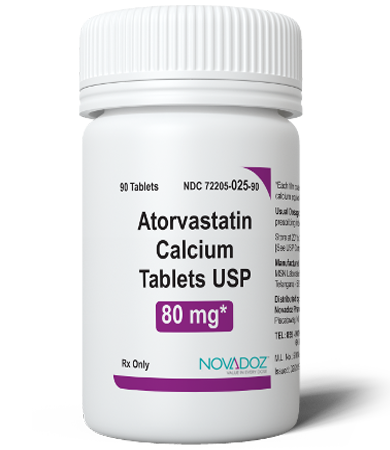 Atorvastatin Calcium 80mg 90 Tablet Bottle