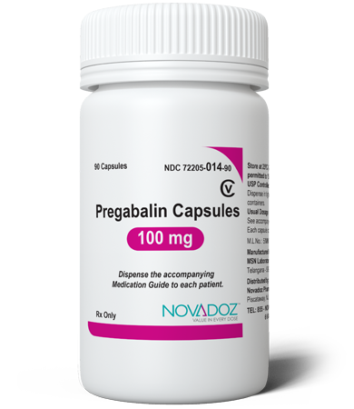 Pregabalin 100mg 90 Tablet Bottle