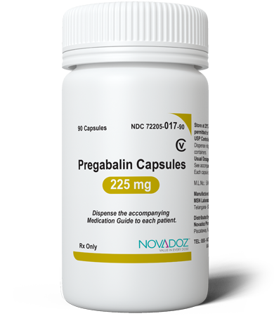 Pregabalin 225mg 90 Tablet Bottle