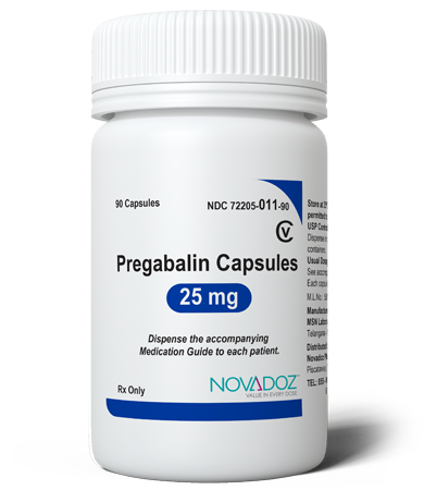 Pregabalin 25mg 90 Tablet Bottle