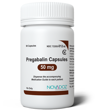 Pregabalin 50mg 90 Tablet Bottle