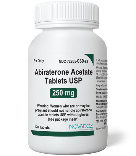 Abiraterone Acetate 250mg 120ct Bottle